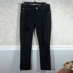 GAP | Girlfriend Destroyed Black Jeans Size 27R